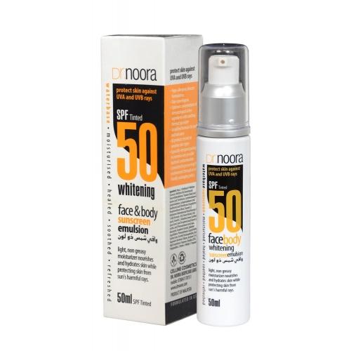 Crème SPF50 anti-solaire à effet maquillant